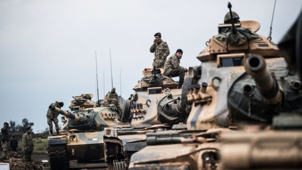 Syria offensive: Turkish troops 'capture villages' in Afrin