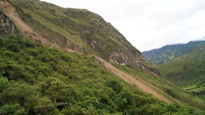 Colombia landslide kills 13 as bus is swept into ravine