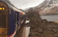 Train trapped by tonnes of mud after landslip
