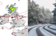 UK snow forecast mapped: Where will it snow in the UK today? Met Office weather warnings