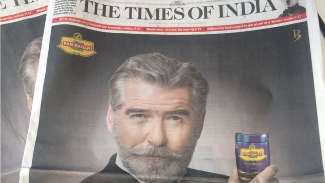 Pierce Brosnan asked to 'explain' India advert