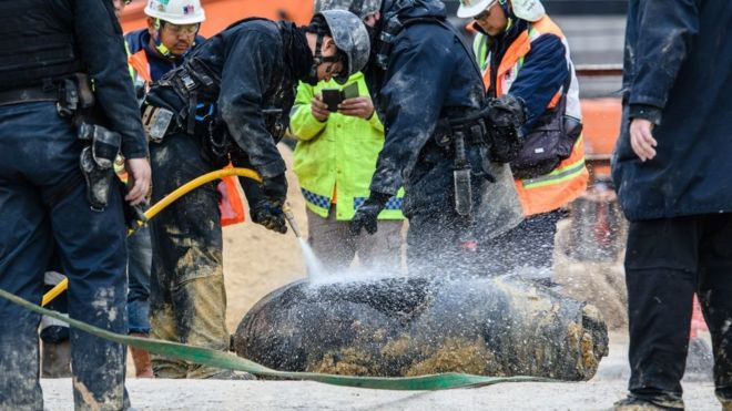 World War Two bomb in Hong Kong defused by police